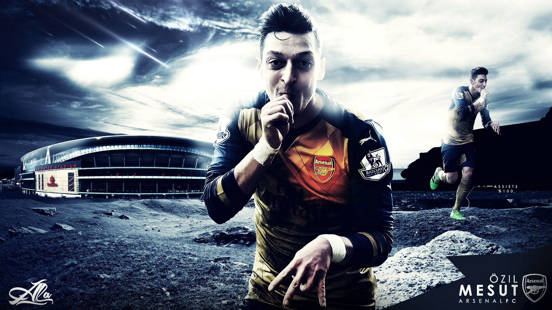 Mesut Ozil Arsenal Wallpaper Hd Arsenal Wallpapers Mesut
