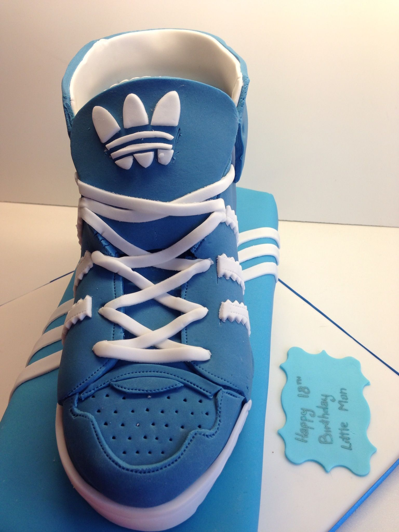 Adidas shoe box and trainer cake birthday cakes for men