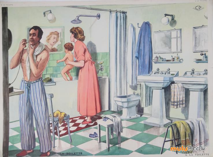 La Toilette Dans La Salle De Bain Editions Rossignol