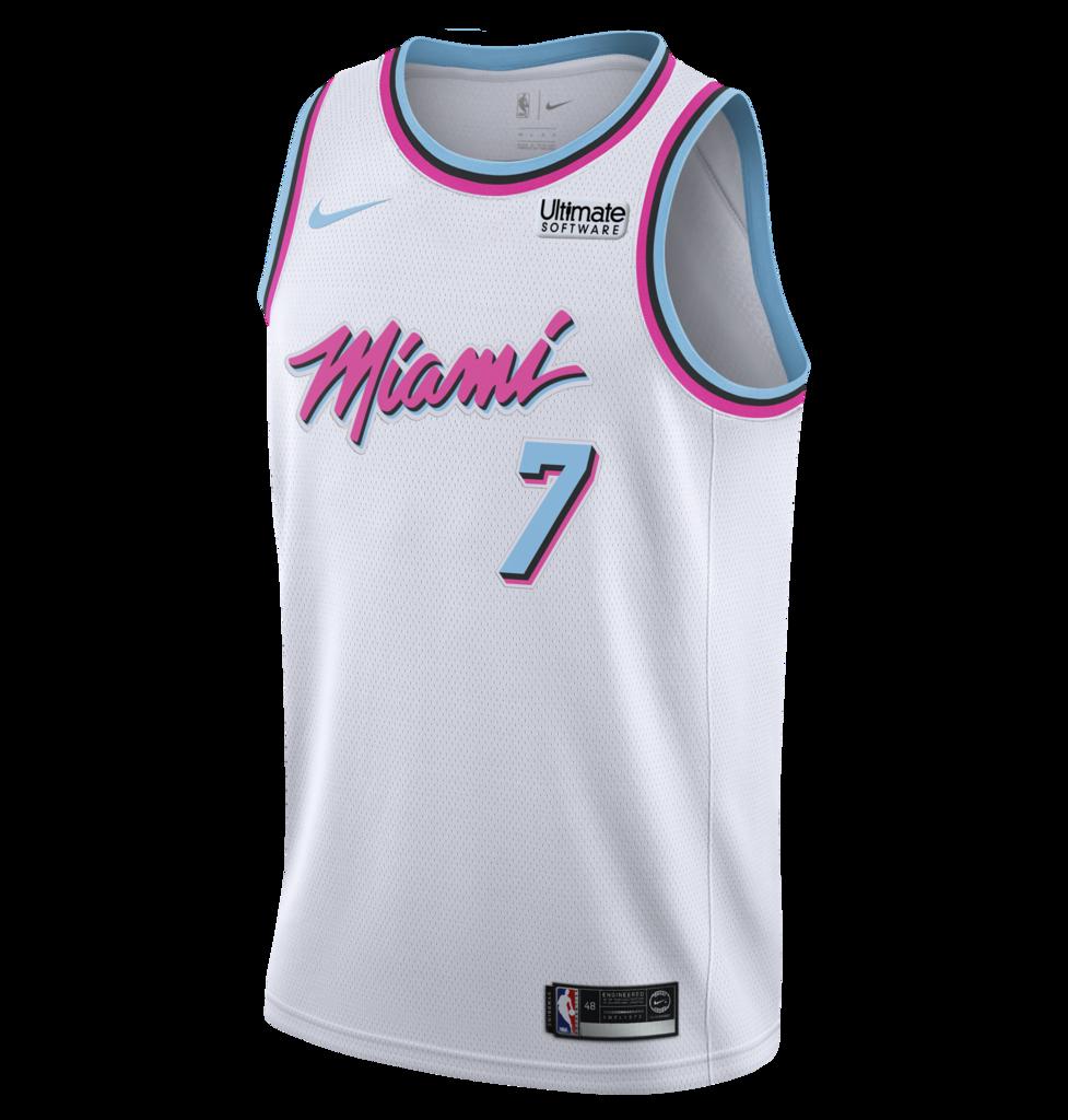 Goran Dragic Nike Miami Heat Vice Uniform City Edition Youth Swingman Jersey Everyday Outfit Inspiration Athletic Tank Tops Uniform City