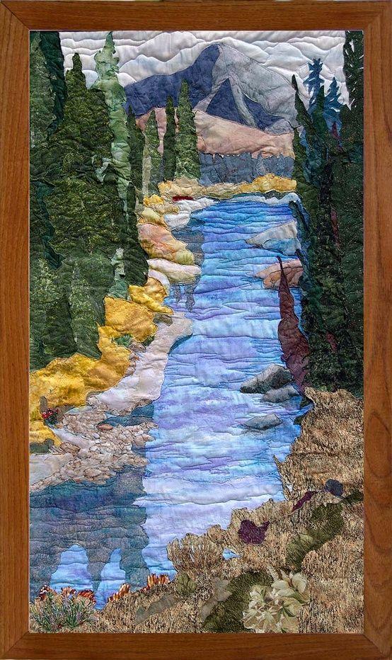 Fabric Art Jeanine Malaney Landscape Art Quilts Landscape Quilts Landscape Quilt