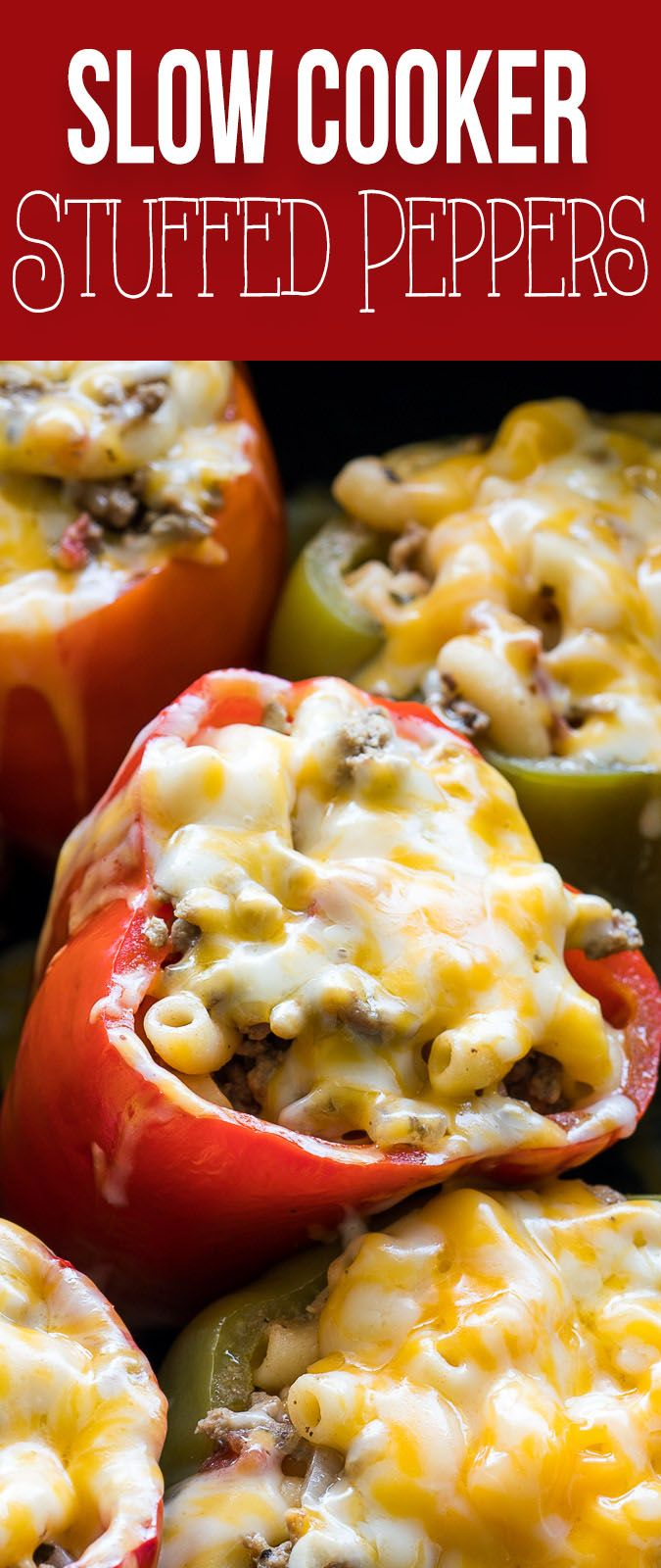 Slow Cooker Beef Macaroni Stuffed Peppers Recipe Stuffed Peppers Slow Cooker Stuffed Peppers Slow Cooker Recipes