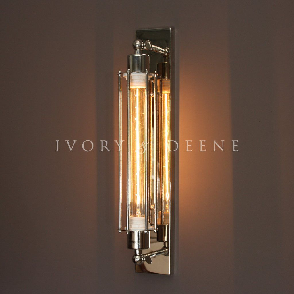 Pendant Light Industrial Wall Sconce Chrome Industrial Sconce Industrial Wall Sconce Sconces Wall Lamps