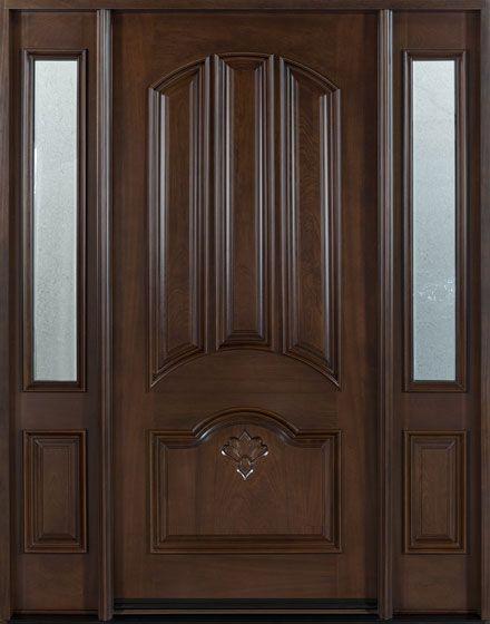 mahogany solid wood custom door this is the door that enters into the bar
