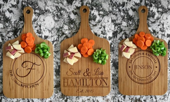 One Or Two Custom Wooden Serving Boards From American Laser Crafts