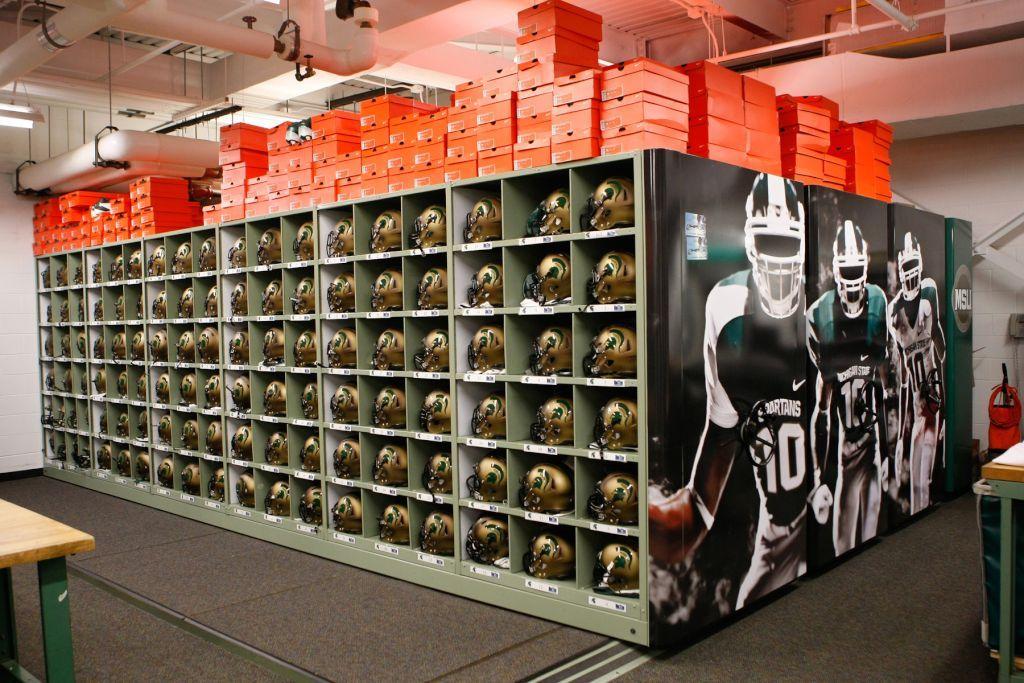 Michigan State Helmet Wall Football Equipment Michigan State Spartans Football Spartans Football