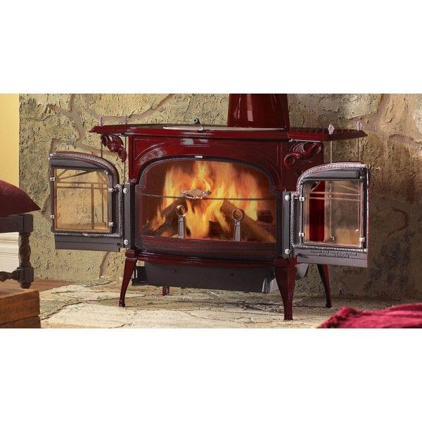Red Color Stove From Vermont Castings Inamus Com Freestanding Fireplace Wood Stove Fireplace Wood Burning Stove