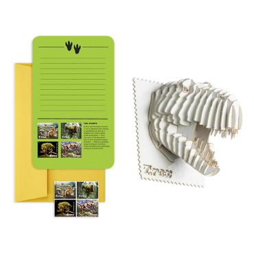 Tyrannosaurus Rex 3-D Puzzle Notecard Set