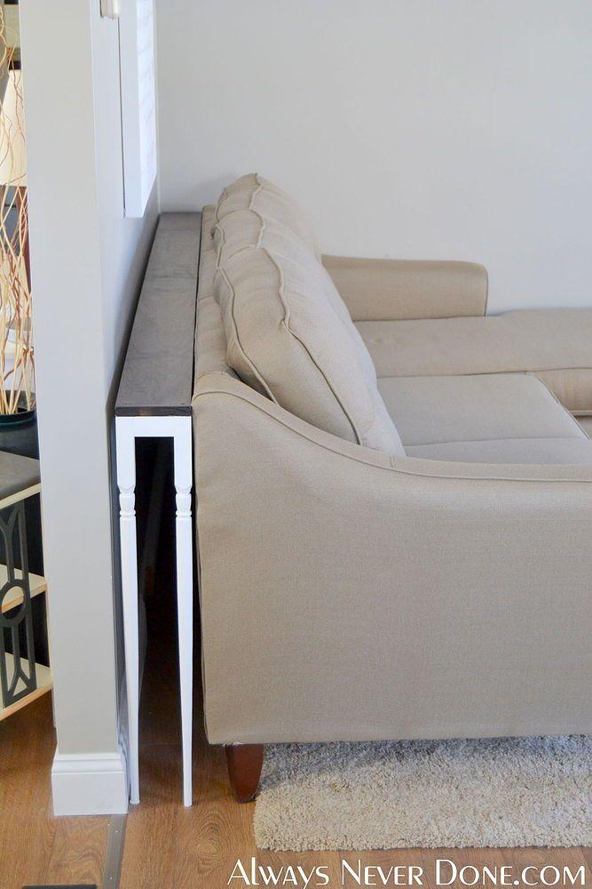 Diy Thin Sofa Table With Images Diy Sofa Table Diy