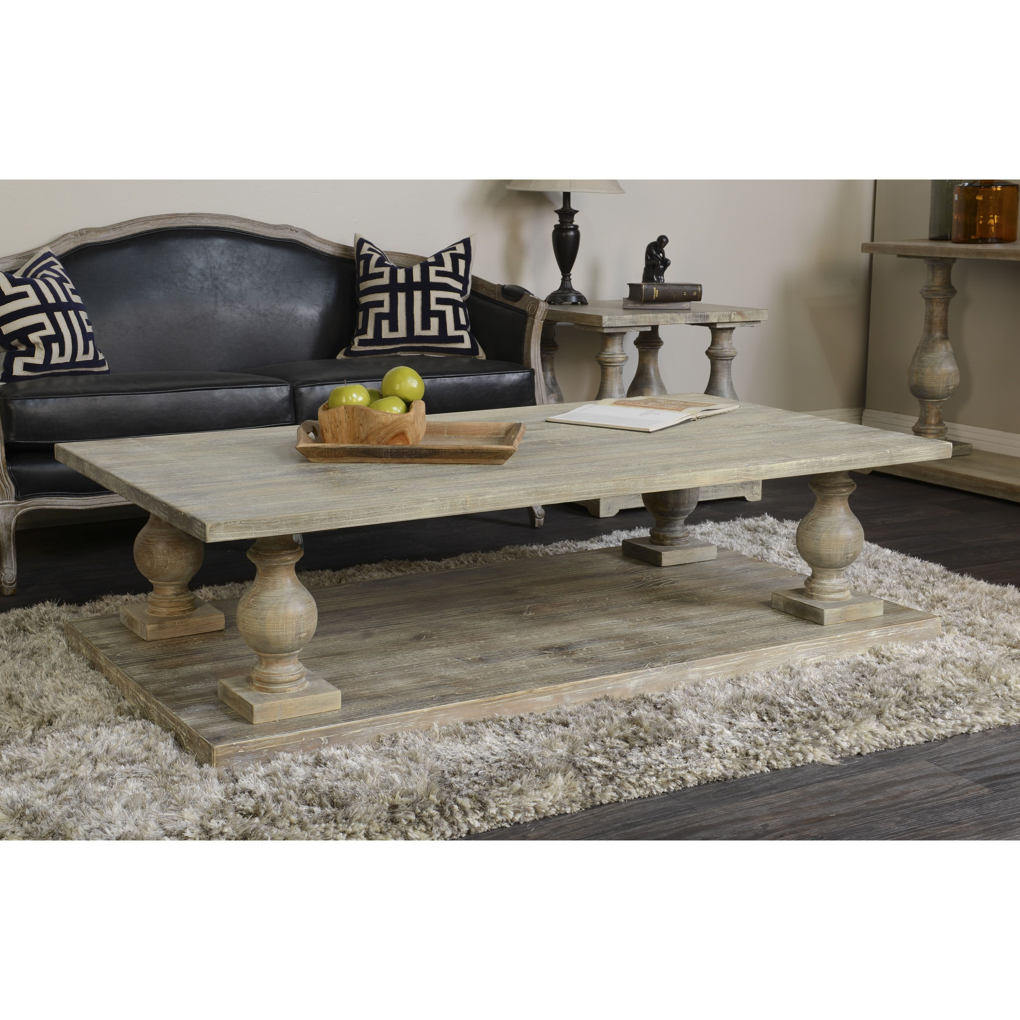 Parvin 65 Inch Reclaimed Pine Coffee Table By Kosas Home