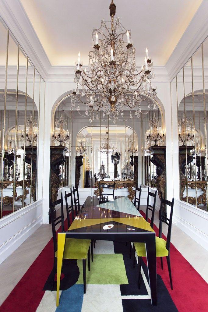A view inside Schiaparelli's Paris couture salon.  (Photo by Christophe Roué)