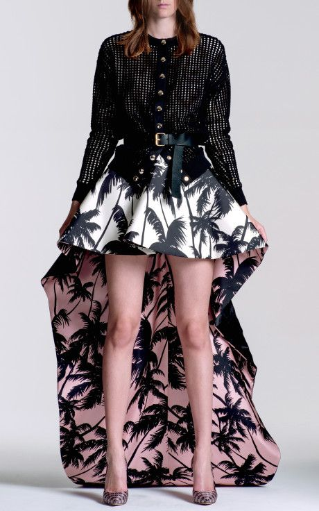 Contrast Lined Tail Skirt by Fausto Puglisi <3