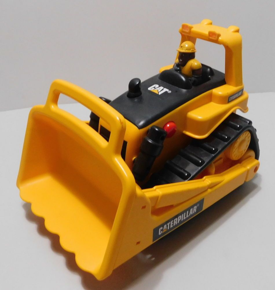 Caterpillar Bulldozer Push Button Childs Toy Driver Battery Operated See Video #ToyStateCaterpillar