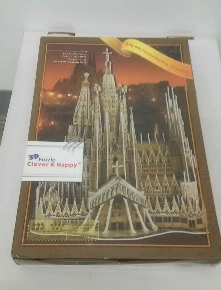 3D Puzzle Model Church Cathedral Sagrada Familia Basilica Barcelona Spain Travel #UrGifts