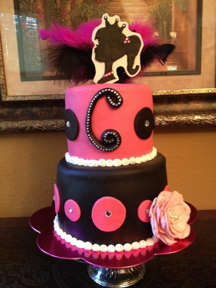 Black And Pink Barbie Princess Cake Instead Of Cameo