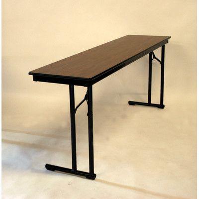 Maywood Furniture Rectangular Folding Table Frame Finish: Black, Table Top  Finish: Black,