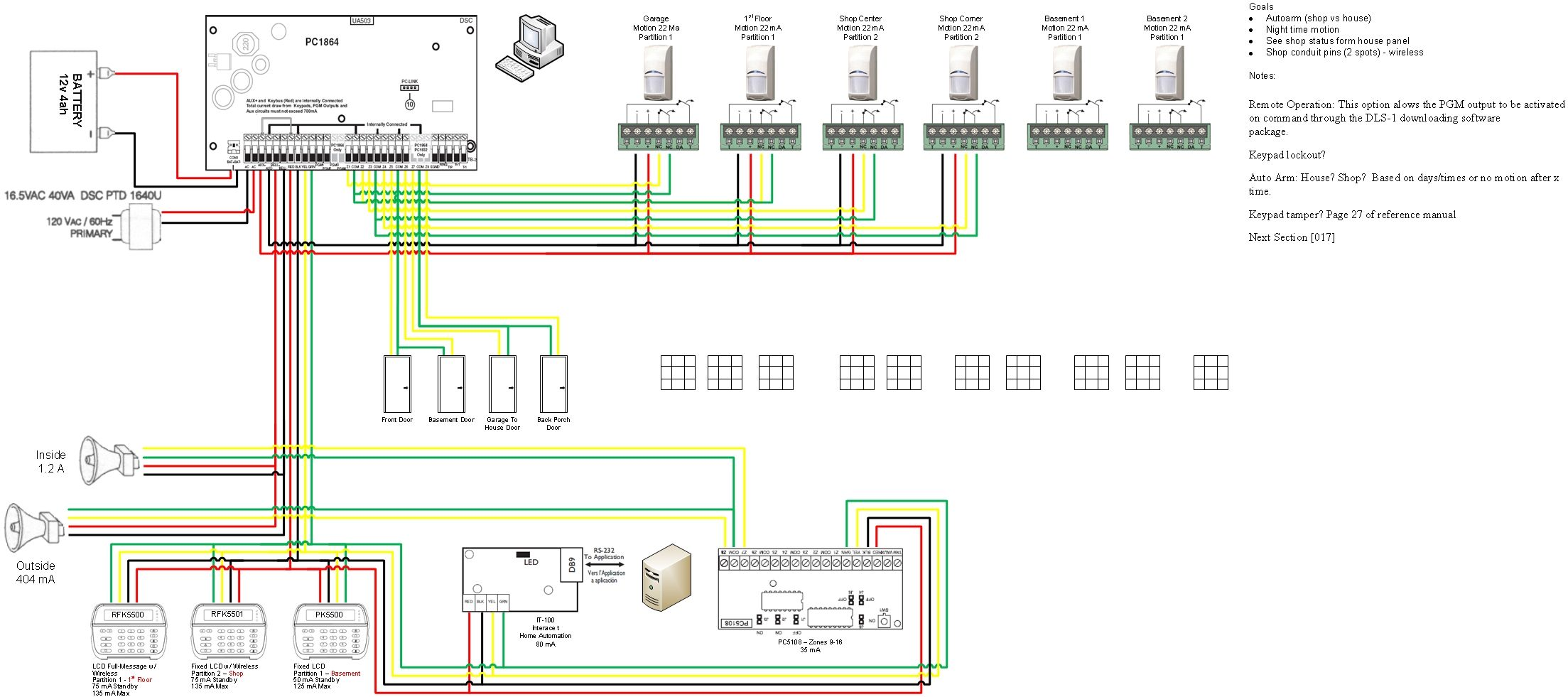 security wiring plans wiring diagram option golf cart security wiring diagram [ 2207 x 981 Pixel ]