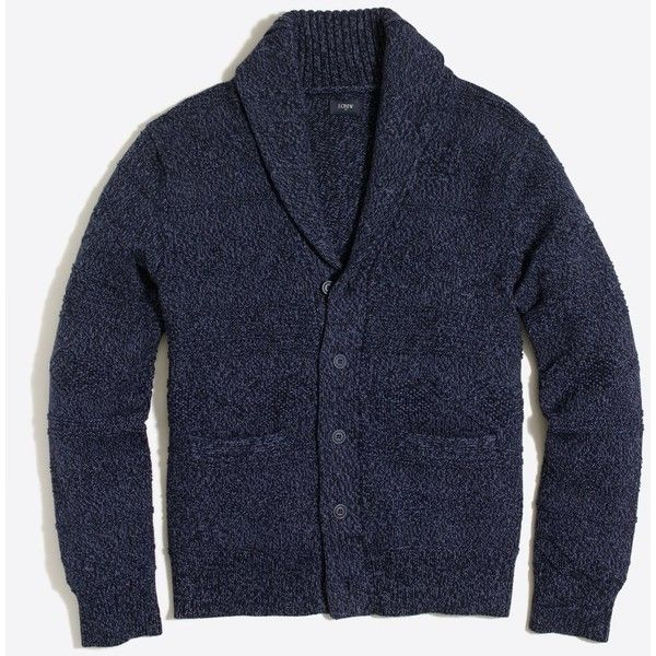 J.Crew Cotton shawl-collar cardigan sweater (3.800 RUB) ❤ liked ...