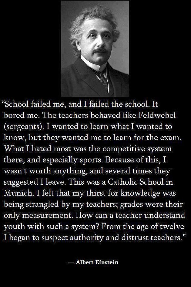 Einstein on school