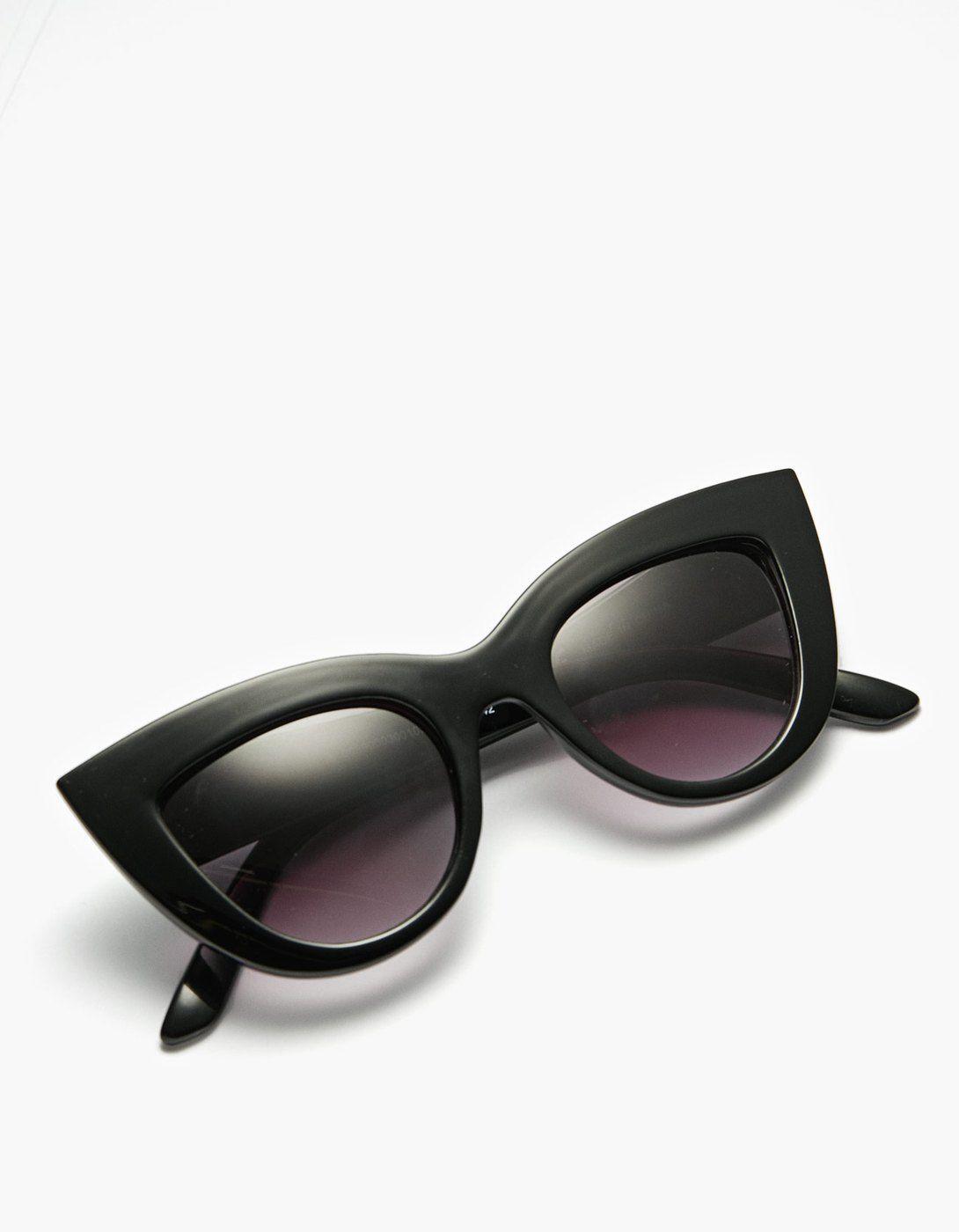 335861b654c9 Большие солнечные очки формы «кошачий глаз» - Очки