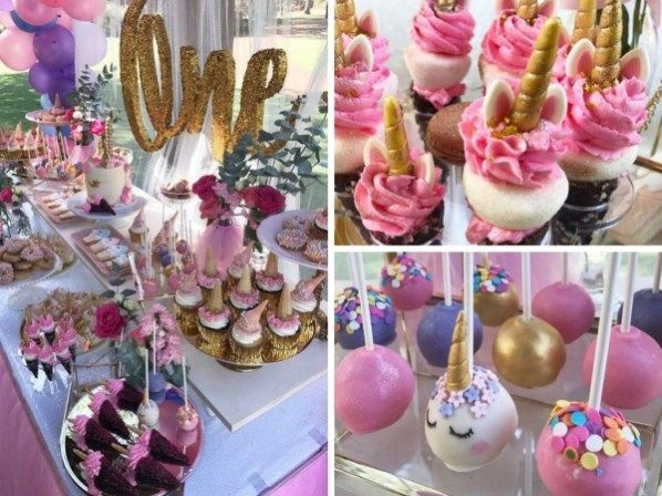 First Unicorn Birthday Party Pink Gold