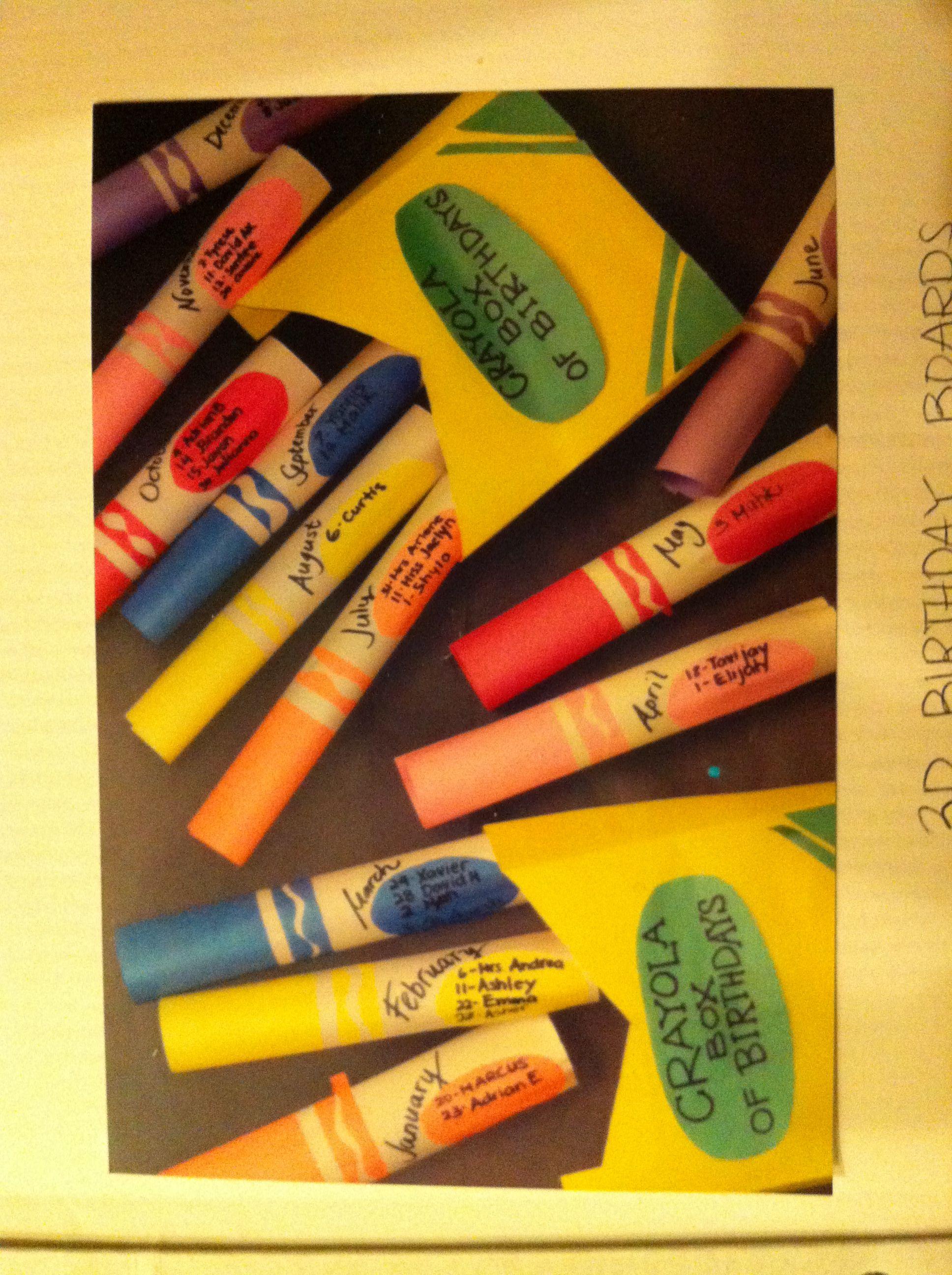 3D Crayola box of birthdays!!