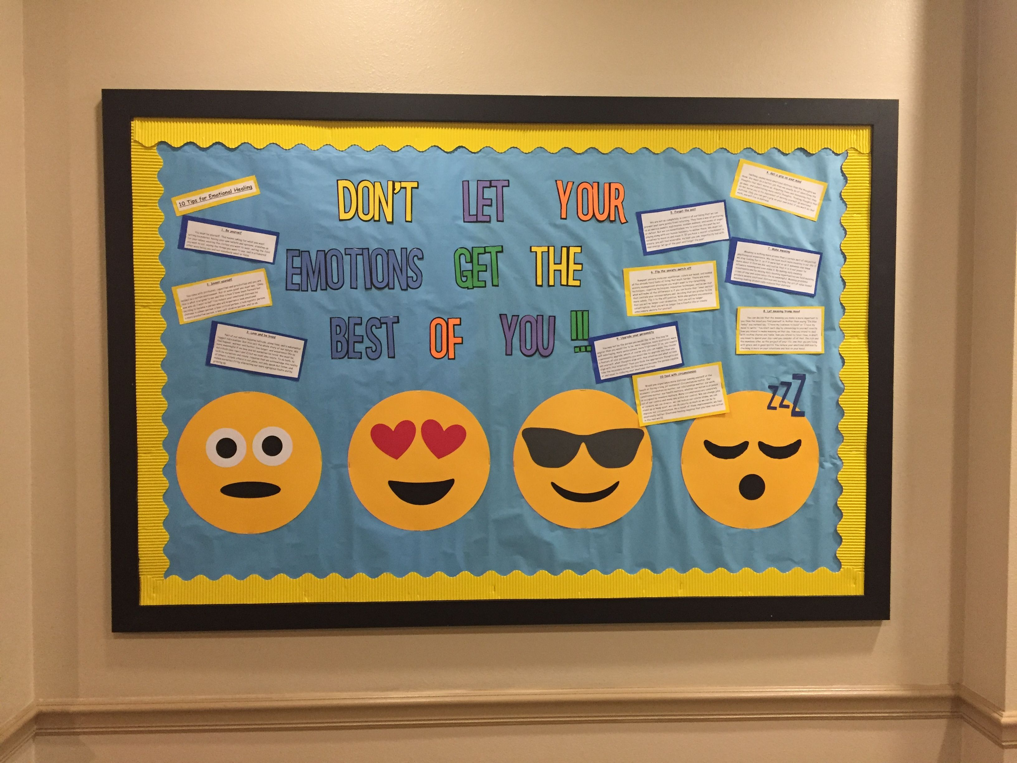 Ra college bulletin board emojis ra boards door dec for Back to school board decoration