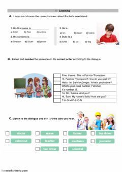 Liveworksheets självrättande prov. School subjects