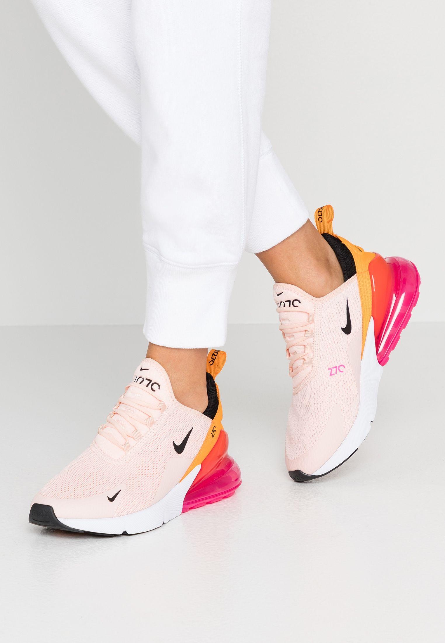 Air Max 270 Sneaker Low Washed Coral Black Laser Fuchsia Orange Peel Zalando At Nike Air Schuhe Rosa Nike Schuhe Und Nike Schuhe