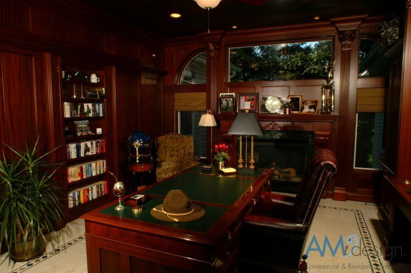 Home office study design 800 533 home office for Home study designs