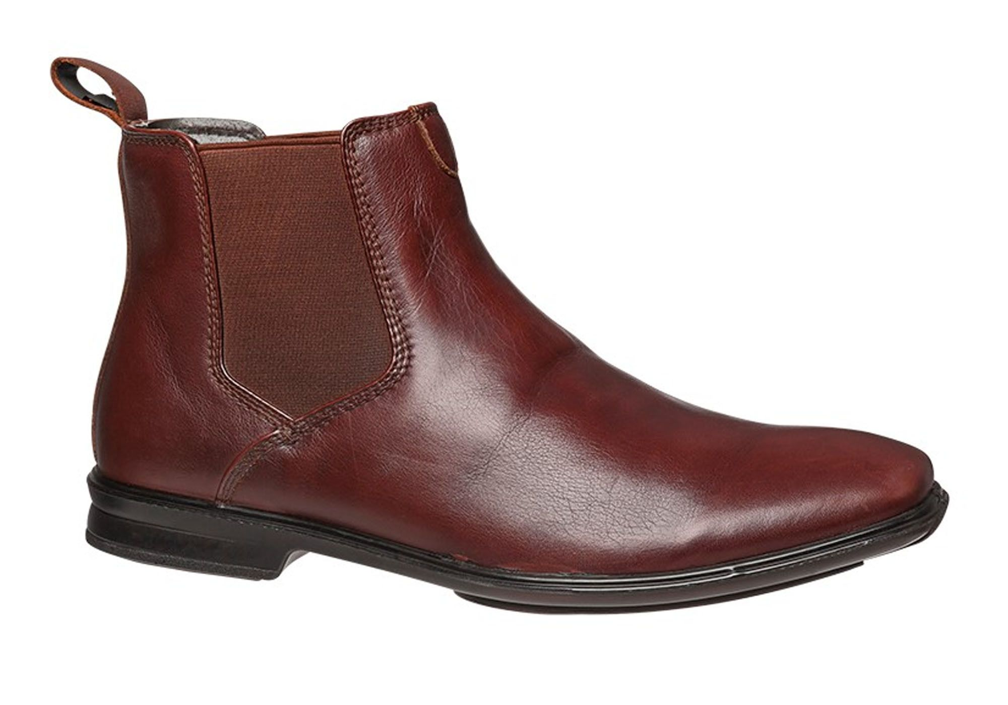 Hush Puppies Chelsea Mens Leather Dress Boots Brand