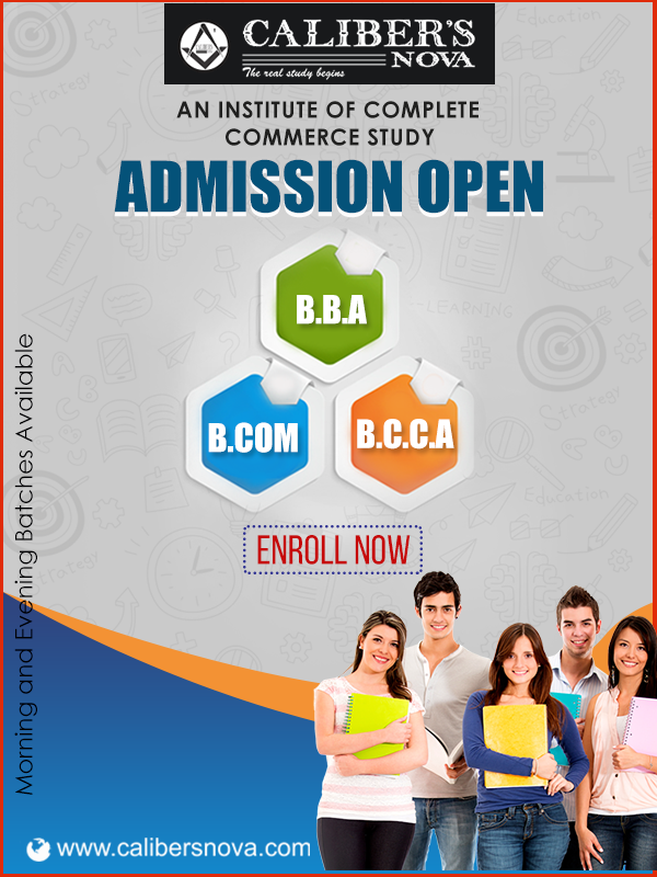 Give Wings To Your Career With Calibers Nova Admission Open For B B A B Com And B C C A H Education Poster Design School Advertising Education Poster