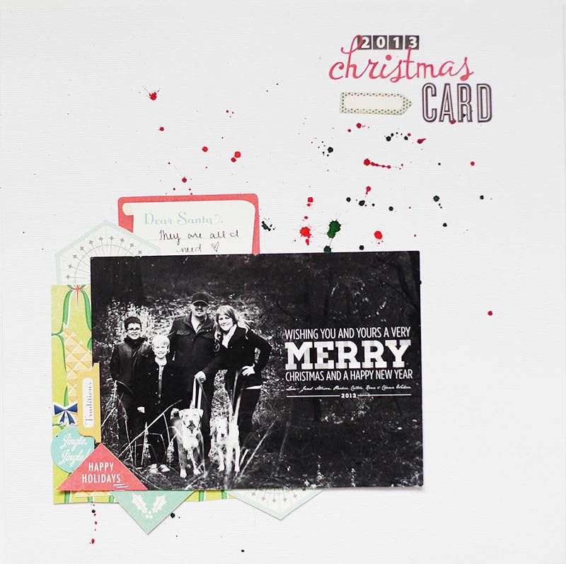 Christmas Card Layout with Novemberu0027s Guest Designer Allison - christmas card layout