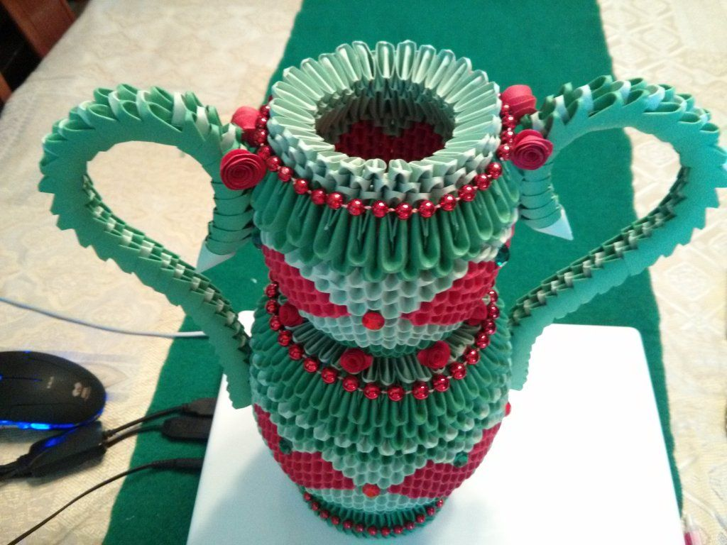 Vase-3D Origami by esmeraldaarribas.deviantart.com on ... - photo#35
