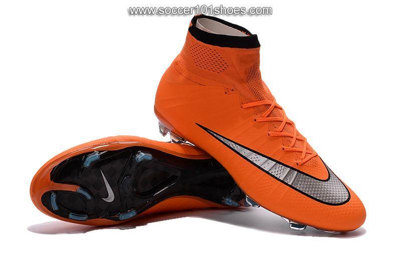 Nike Men's Mercurial Superfly FG Hi Top Football Boot Soccer Cleat Orange