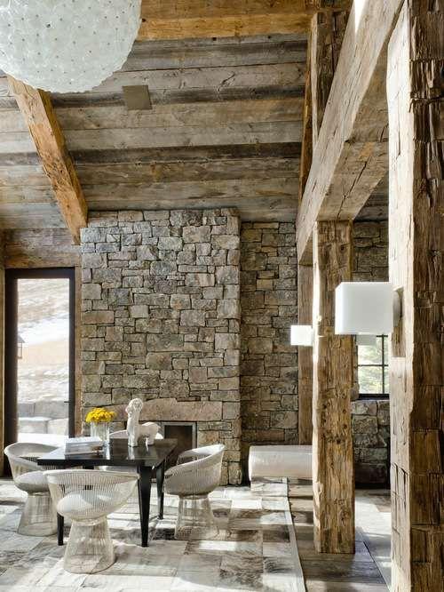Arredare la casa in campagna in stile chic moderno - Sala da pranzo ...