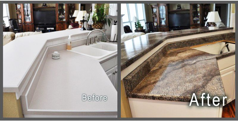 Painted Countertops Www Gianigranite Com Get The High End Look Of