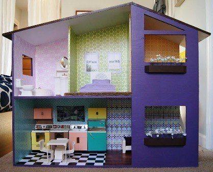 Como hacer una casa de mu ecas con moldes 1 casas y - Como hacer casas en miniatura ...