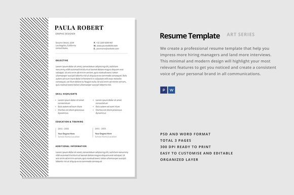 Great Resume Template  Vega Creativework  Fonts Graphics