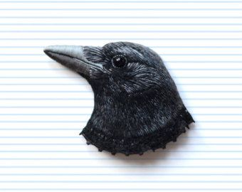 Raven . custom order brooch