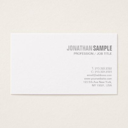 Creative Simple Design Modern Chic Plain Trending Business Card   Architect  Gifts Architects Business Diy Unique
