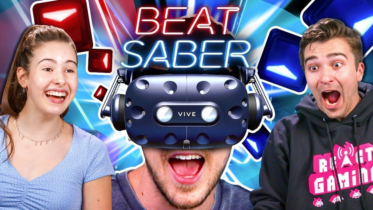 People Compete In A Beat Saber Challenge (VR180