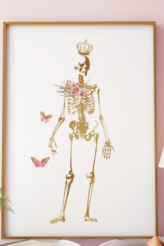 Flower And Butterflies Skeleton Human Skeleton Art Anatomy Illustration Anatomical Decor Orthopedic Doctor Office Decor Skeletal System In 2020 Human Anatomy Art Skeleton Art Doctors Office Decor