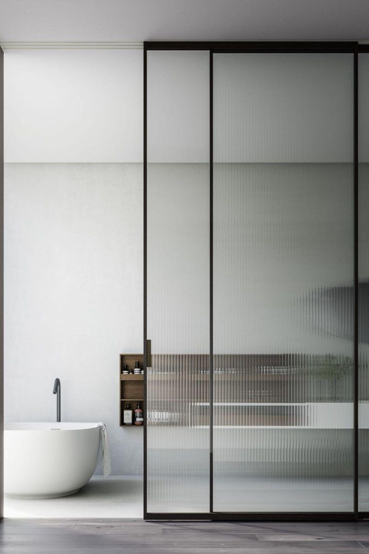 Pocket Door System Design Raumplus Architecture Room In 2020 Glass Doors Interior Sliding Doors Interior Glass Bathroom Door