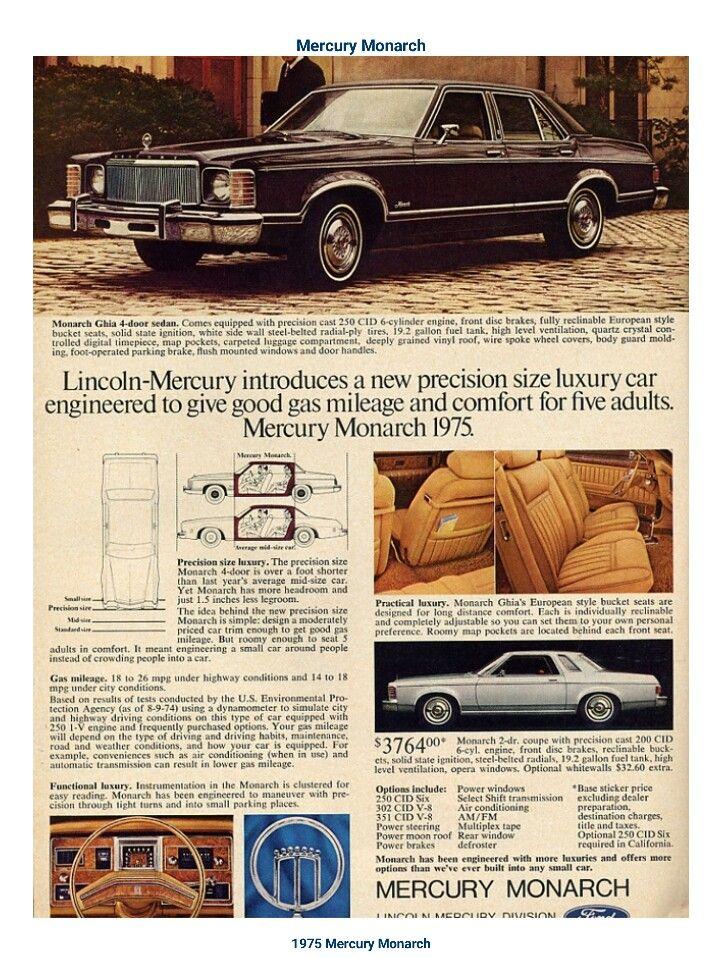 1975 Mercury Monarch Mercury Ford Granada Mercury Cars