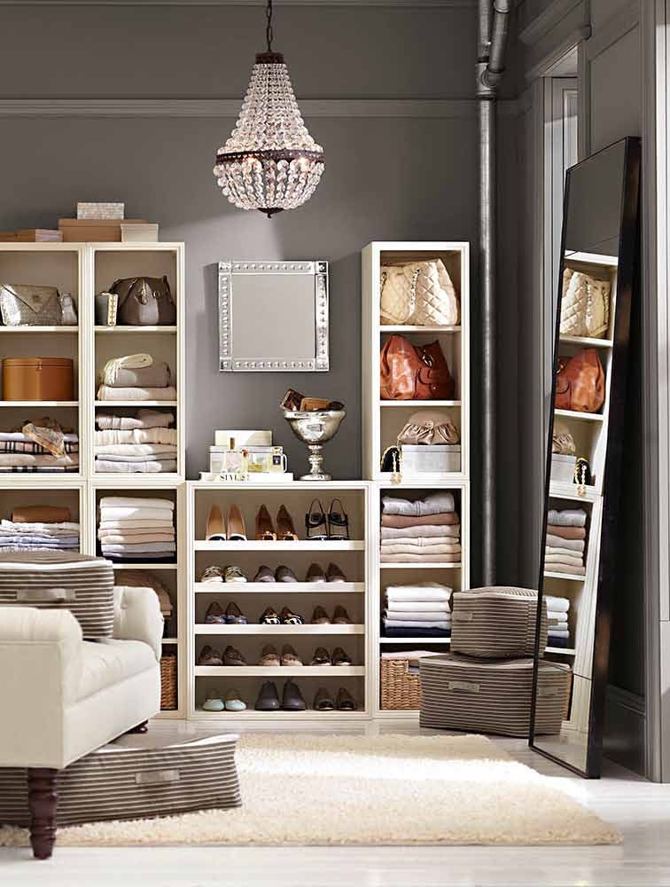 Love The PAINT Color With The Creme Accessories. Build Your Own Dream Closet