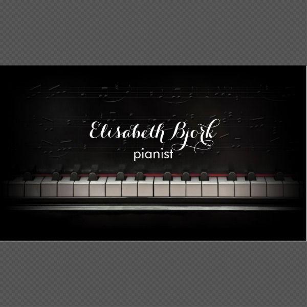 Piano Music Teacher Black Business Card Zazzle Com In 2021 Teacher Business Cards Black Business Card Business Cards