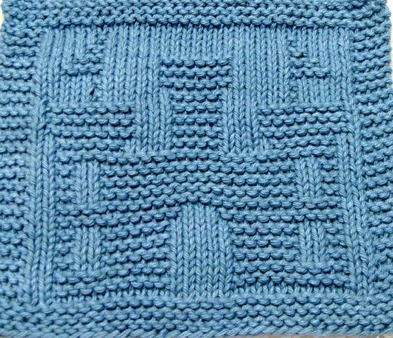 Knitting Cloth Pattern - CASTLE - PDF