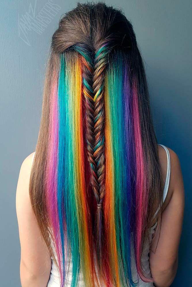 18 Mesmerizing Hidden Rainbow Hair | Hair And Beauty ...