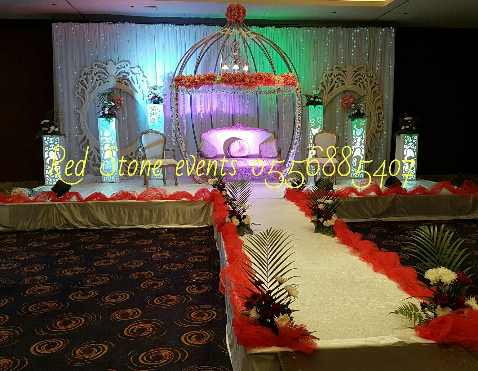 Pin By Red Stone Events On Wedding Stage Decoration For Arabic